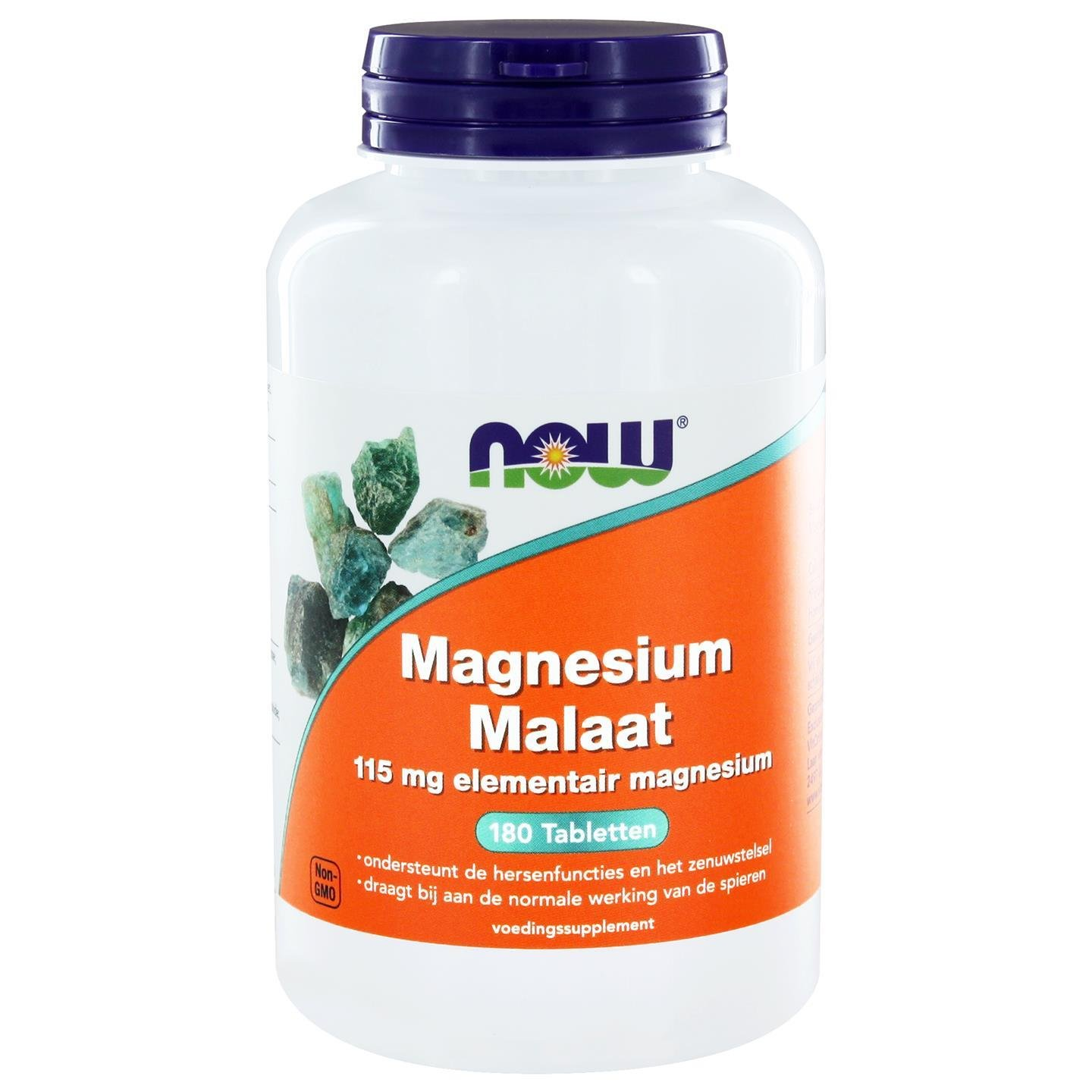 Now Foods Magnesium Malate, 1.000 mg, 180 Tabletten, sojafrei, glutenfrei, 300 g